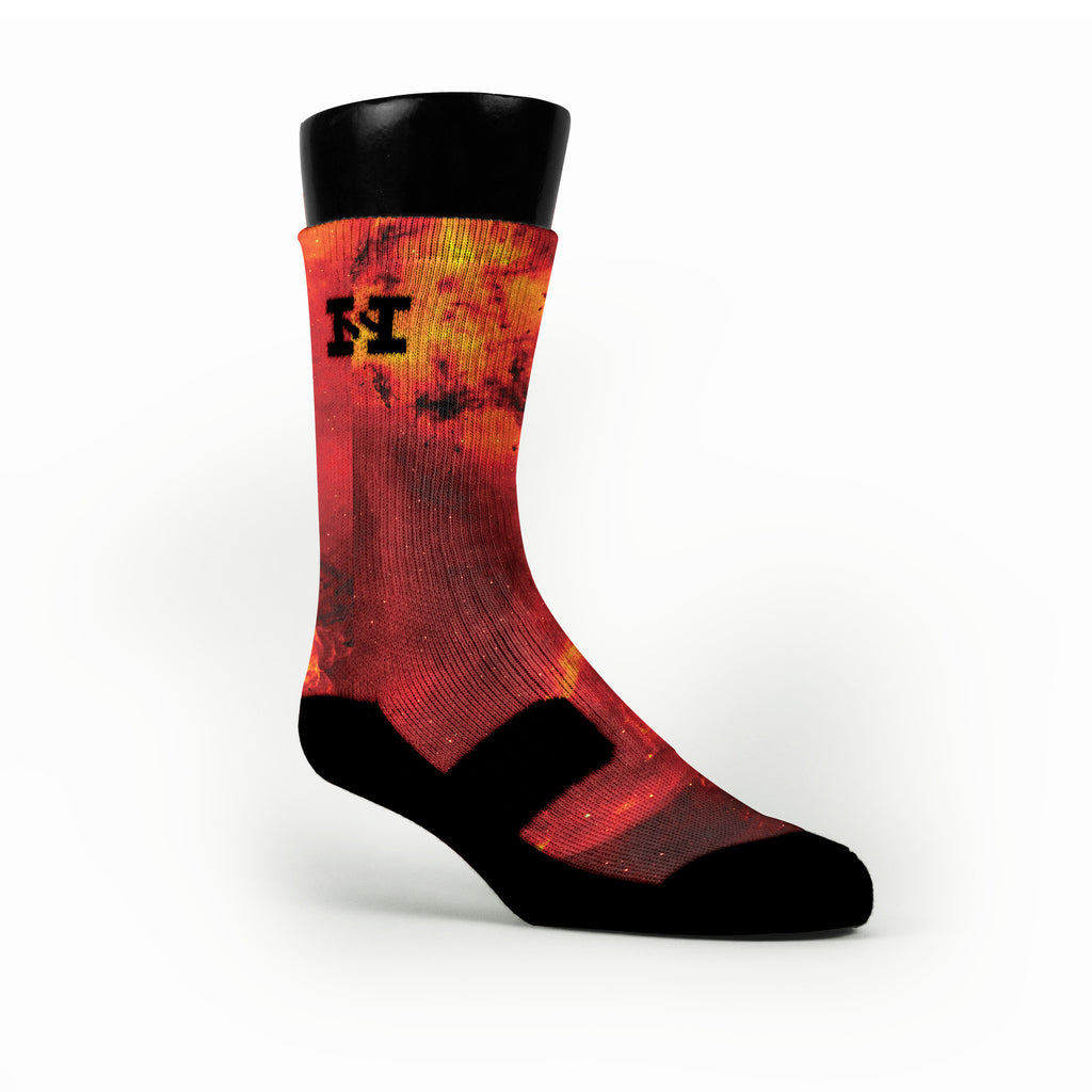 Fire Galaxy Custom HoopSwagg Socks