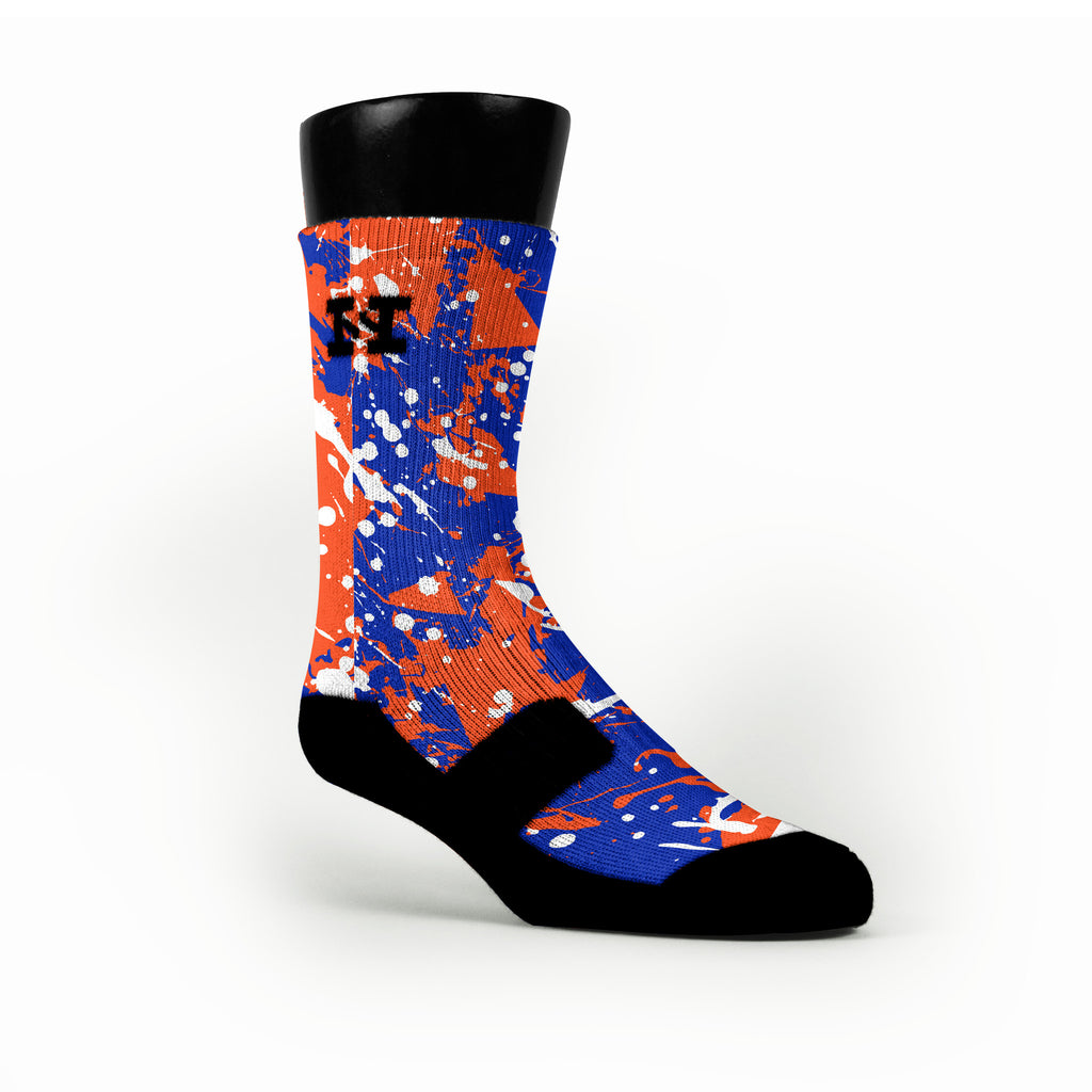 Florida Splatter Custom HoopSwagg Socks