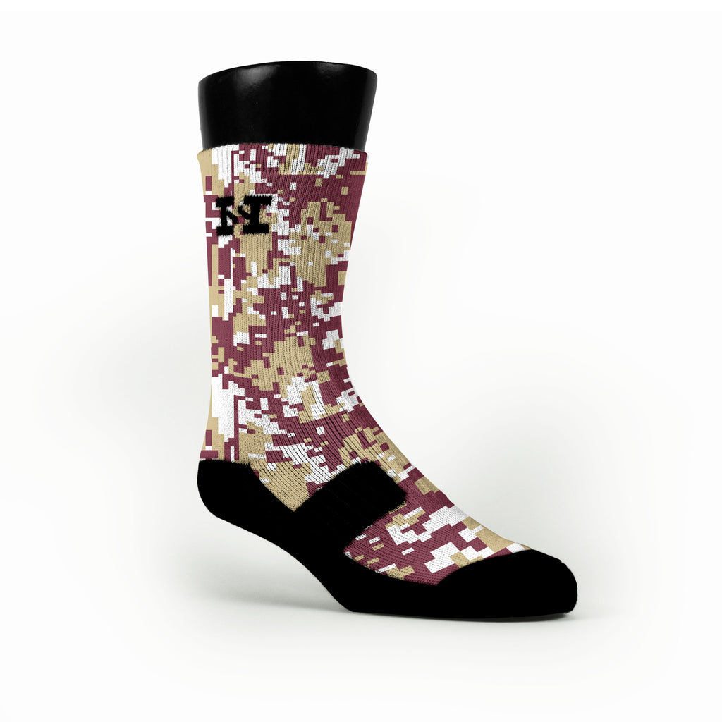 Florida State Digital Camo Custom HoopSwagg Socks