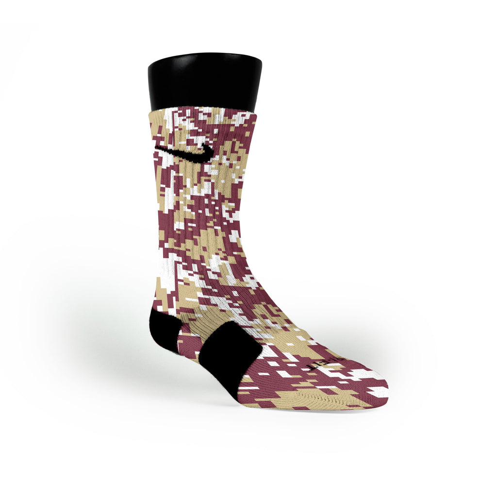 Florida State Digital Camo Custom Nike Elite Socks