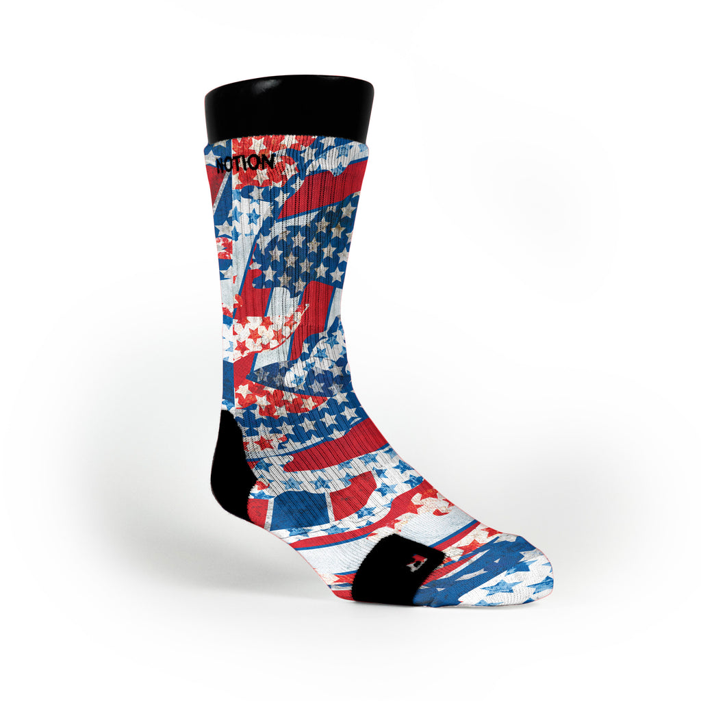 Freedom Flags Custom Notion Socks