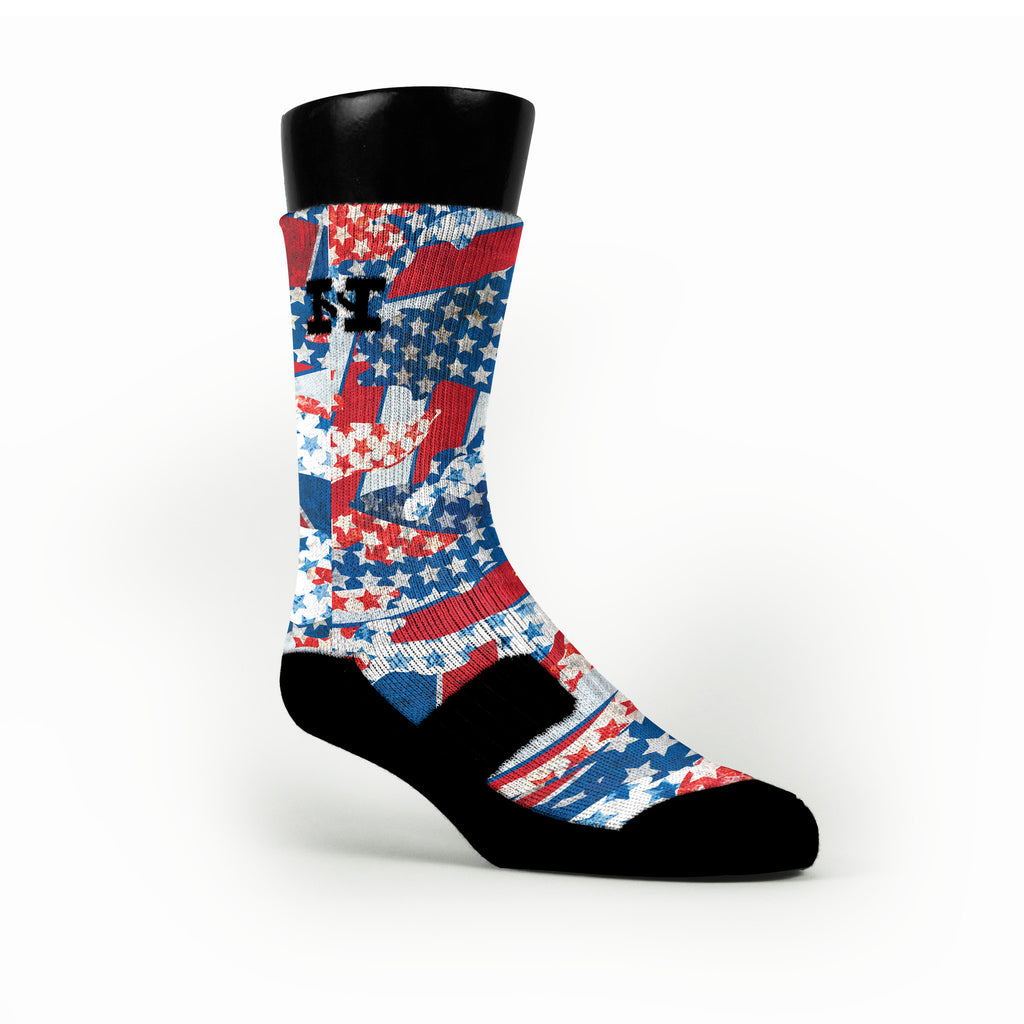 Freedom Flags Custom HoopSwagg Socks
