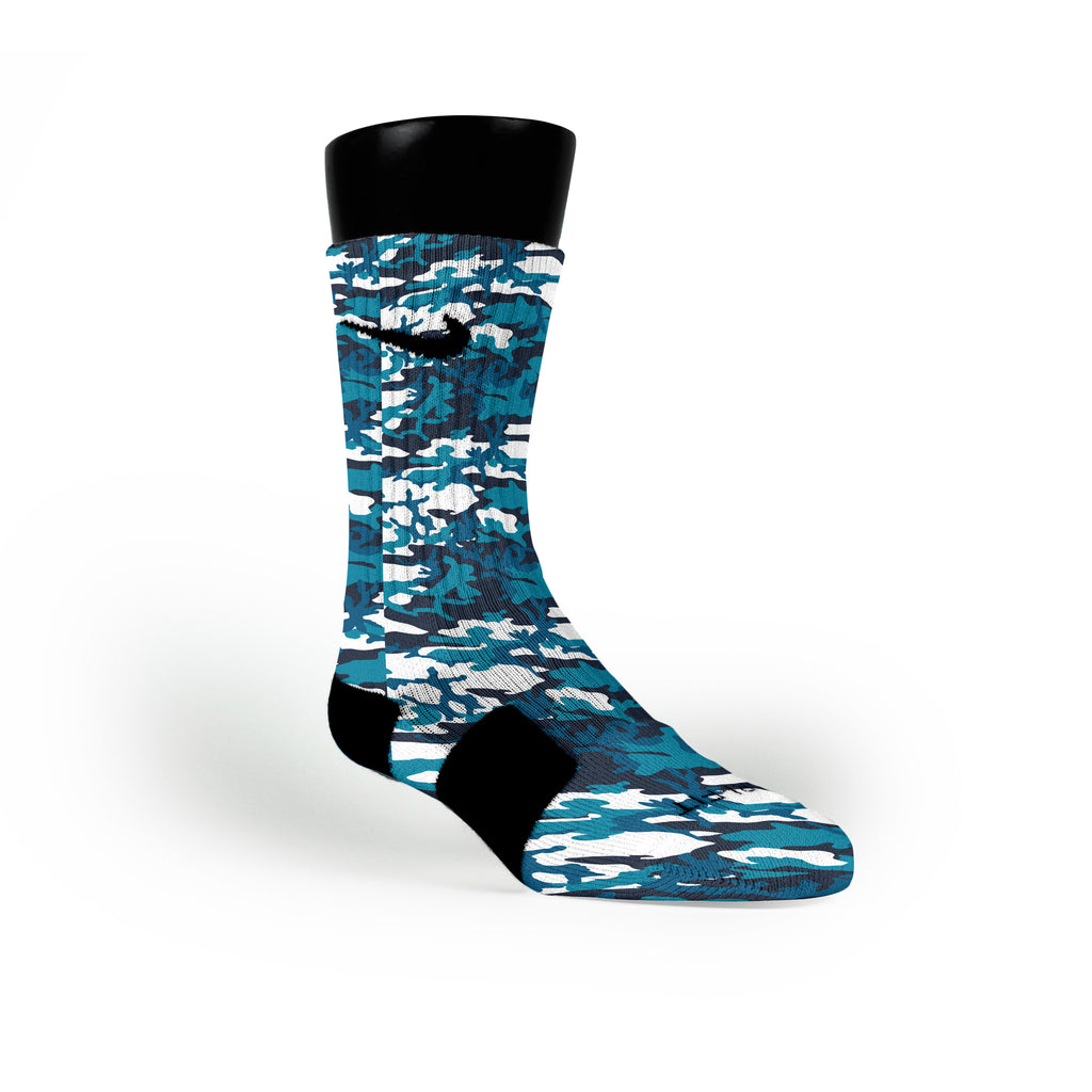 Frost Camo Custom Nike Elite Socks