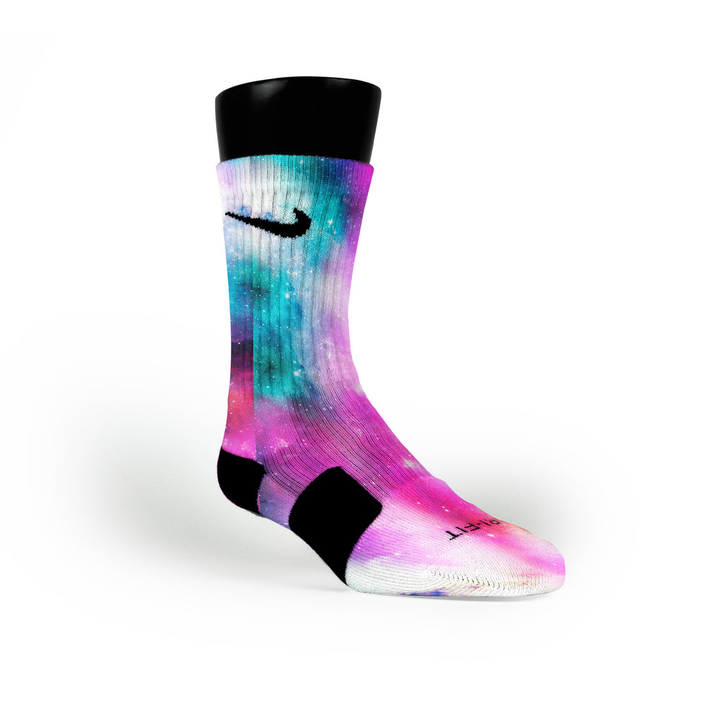 Fusion Galaxy Custom Nike Elite Socks