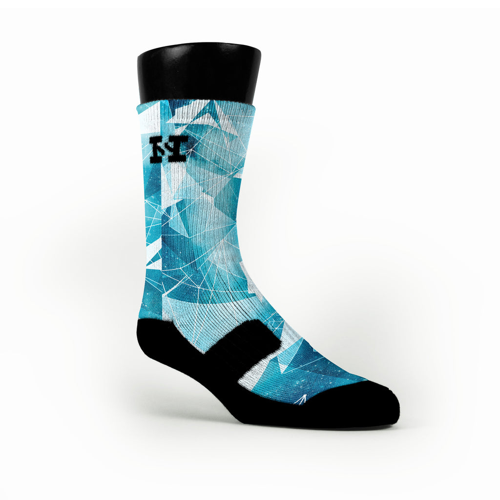 Gamma Blue Crystals Custom HoopSwagg Socks