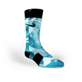 Gamma Blue Crystals Custom Nike Elite Socks