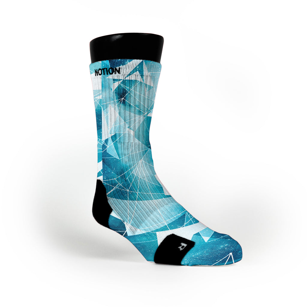 Gamma Blue Crystals Custom Notion Socks