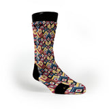 Geo Snakeskin Custom Notion Socks