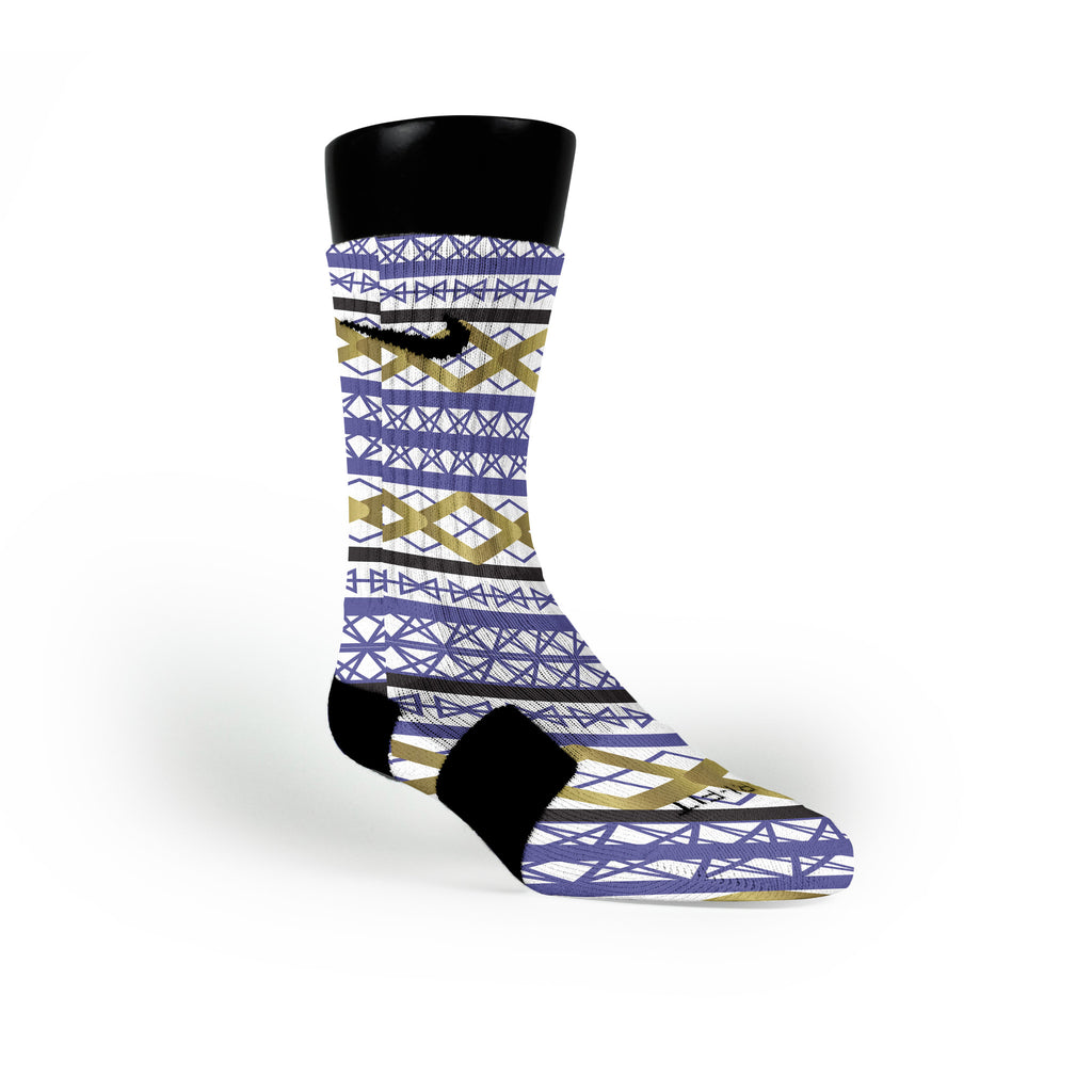 Geometric Pride Custom Nike Elite Socks