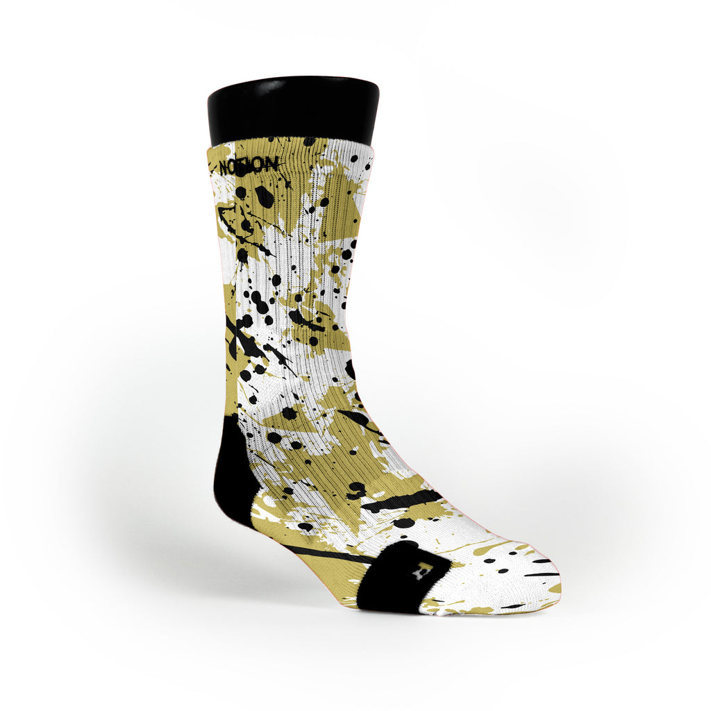 Golden Splatter Custom Notion Socks