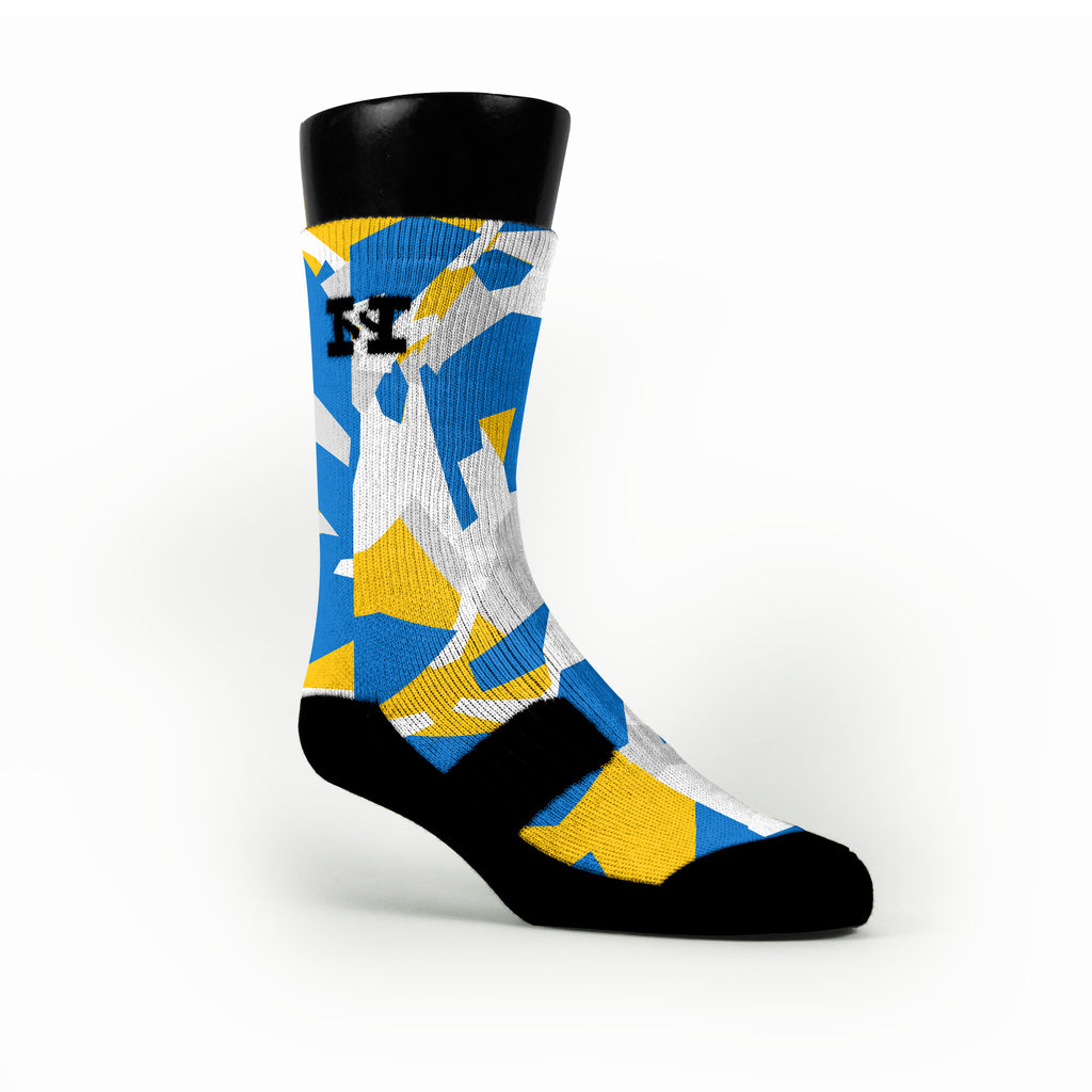Golden State Hardwood Camo Custom HoopSwagg Socks