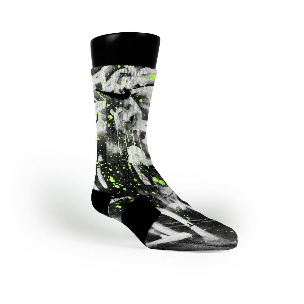 Graffiti Custom Nike Elite Socks