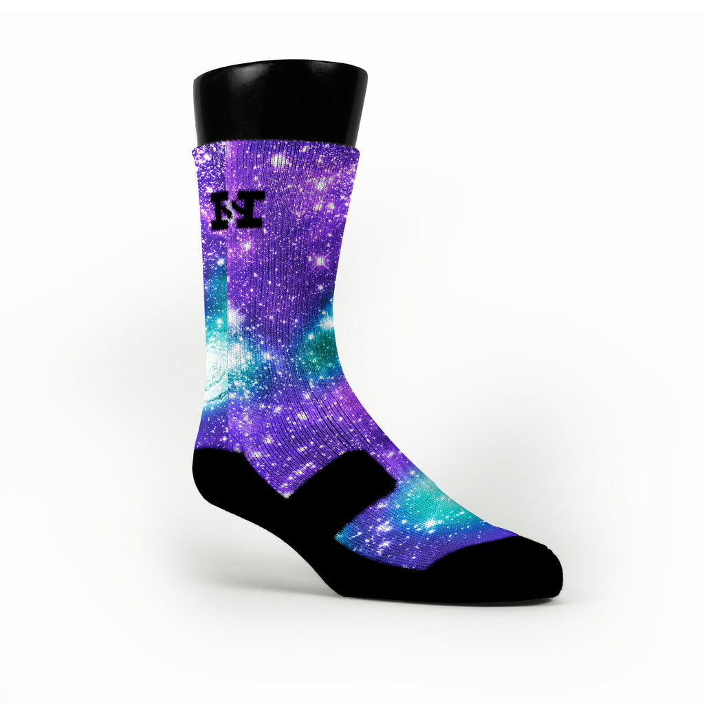 Grape Galaxy Custom HoopSwagg Socks