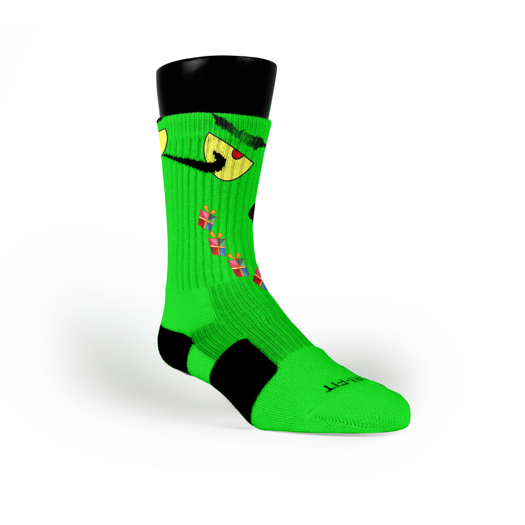 Grinch Custom Nike Elite Socks