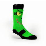 Grinch Custom HoopSwagg Socks
