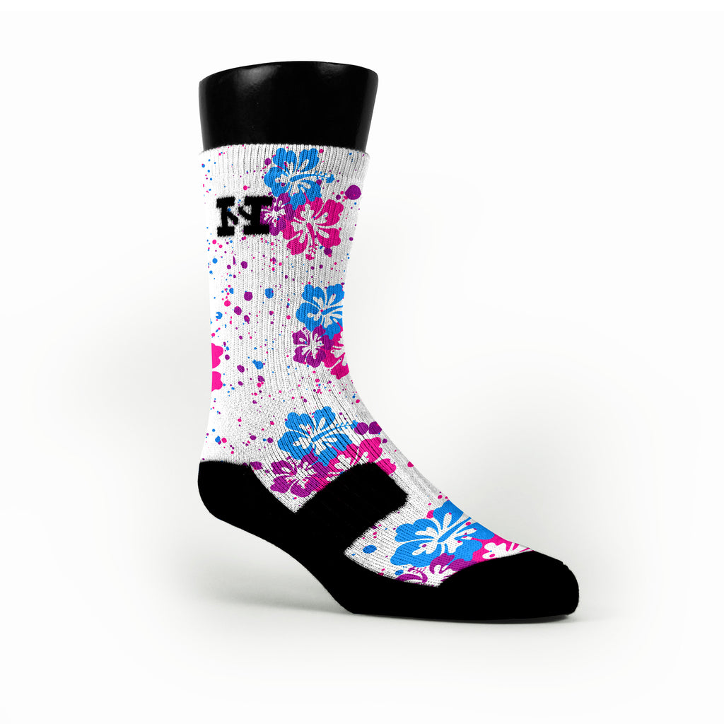 Hawaiian Pink Custom HoopSwagg Socks