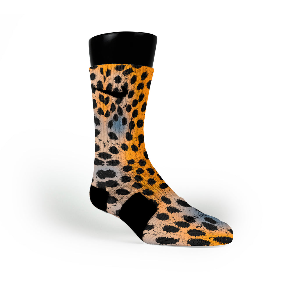 Haze Cheetah Custom Nike Elite Socks