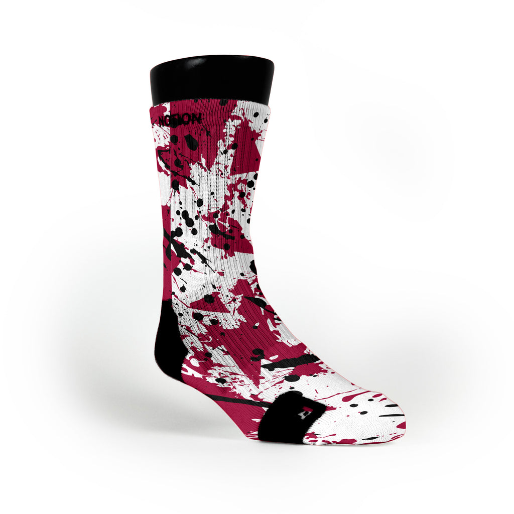 Heat Splatter Custom Notion Socks