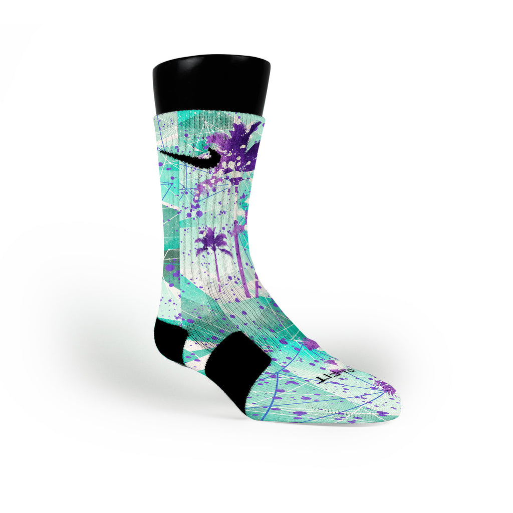 Ice Palms Crystals Custom Nike Elite Socks