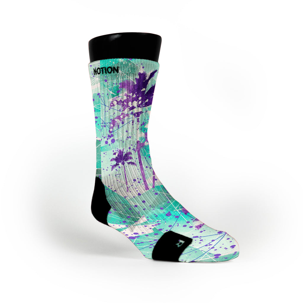 Ice Palms Crystals Custom Notion Socks