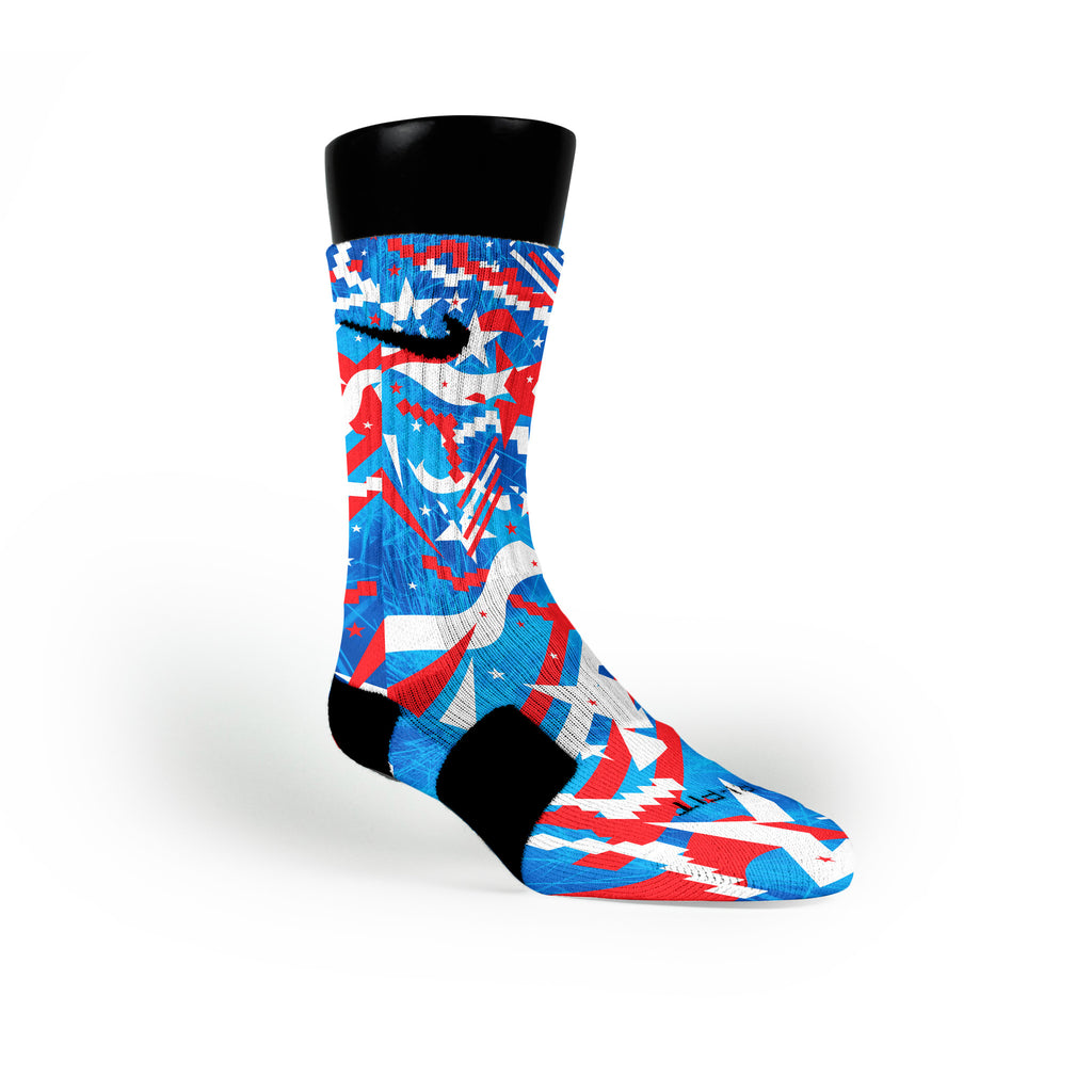 Independence Day Custom Nike Elite Socks