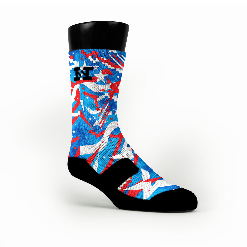 Independence Day Custom HoopSwagg Socks