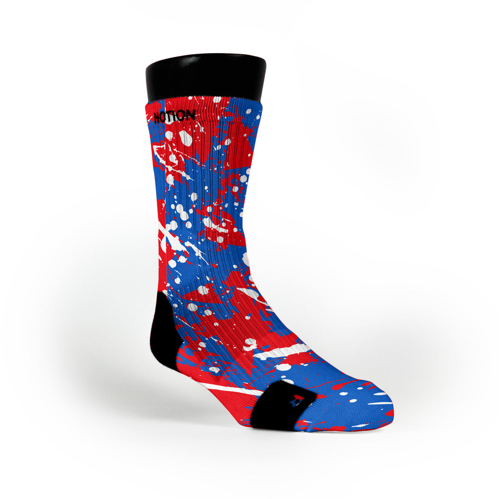 Kansas Splatter Custom Notion Socks