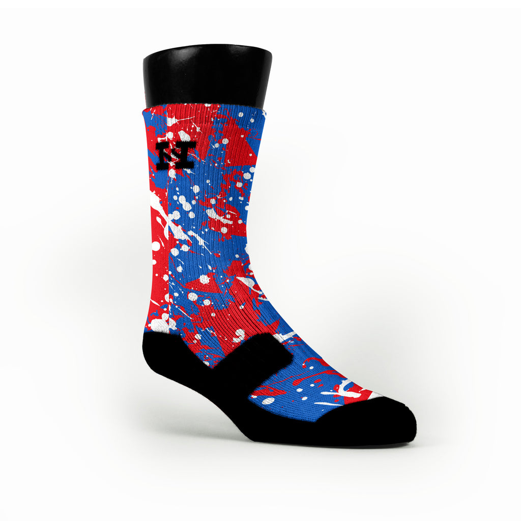 Kansas Splatter Custom HoopSwagg Socks
