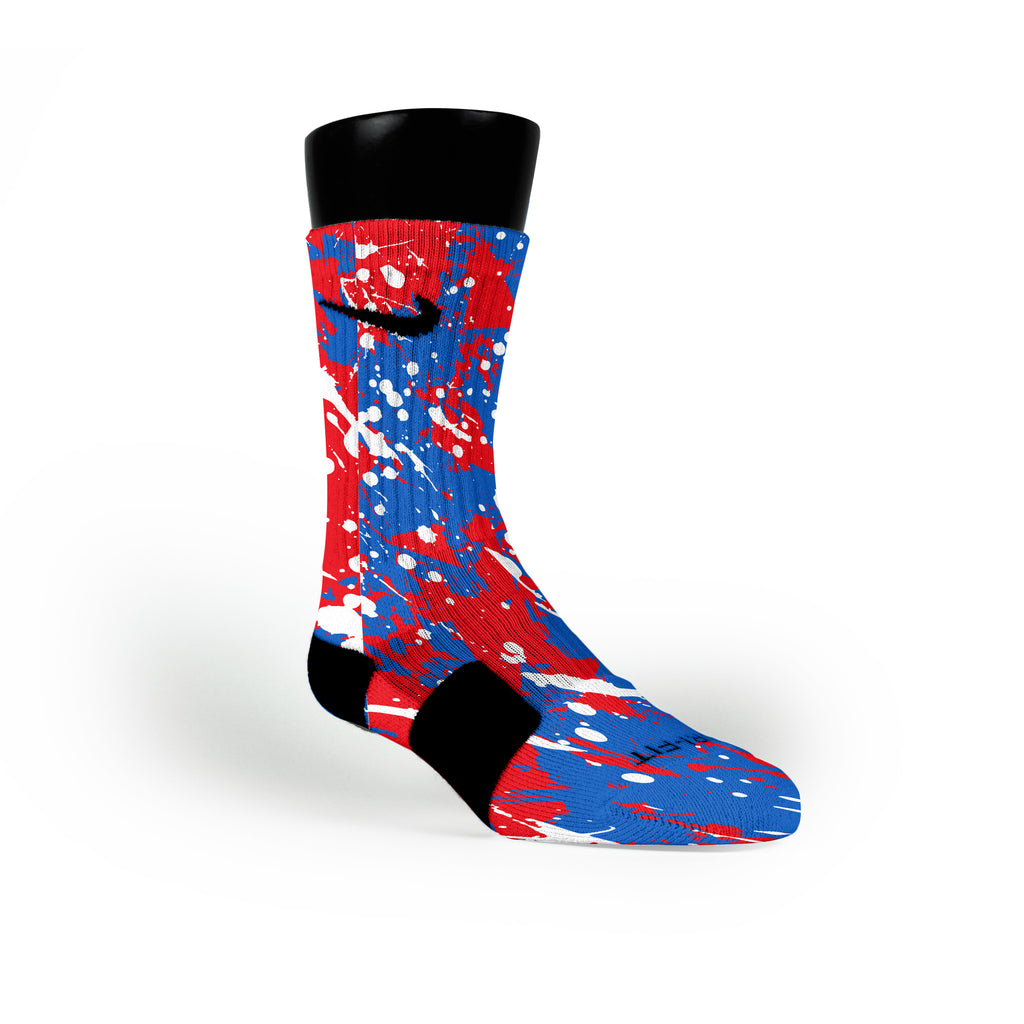 Kansas Splatter Custom Nike Elite Socks