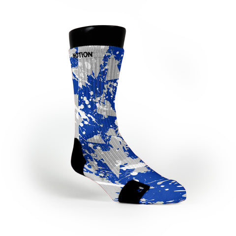 Kentucky Splatter Custom Notion Socks