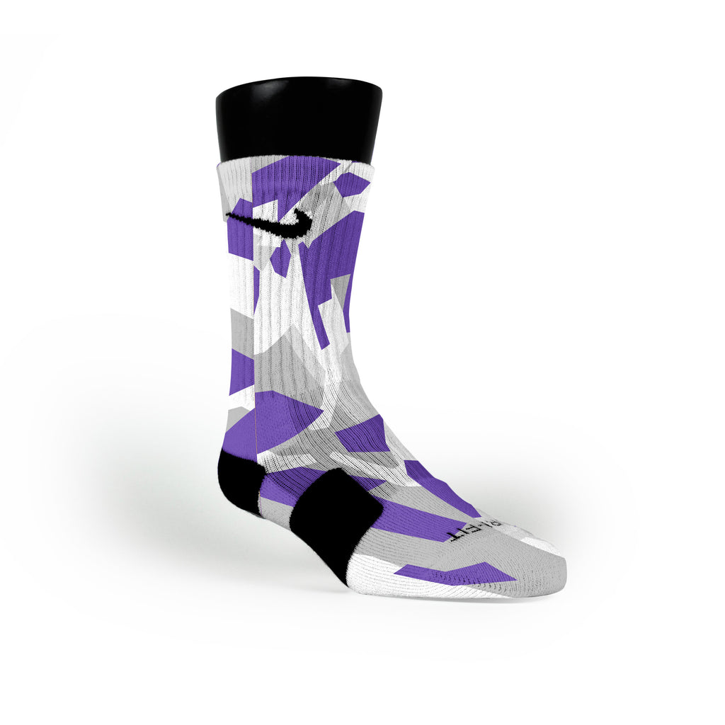 Kings Hardwood Camo Custom Nike Elite Socks