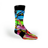 La Graffiti Custom Nike Elite Socks
