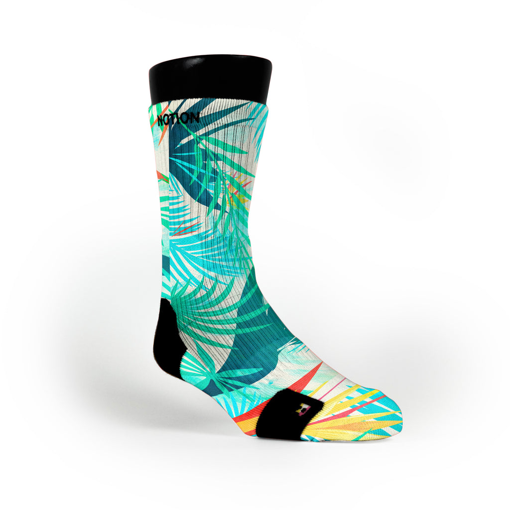 Light Blue Tropics Custom Notion Socks