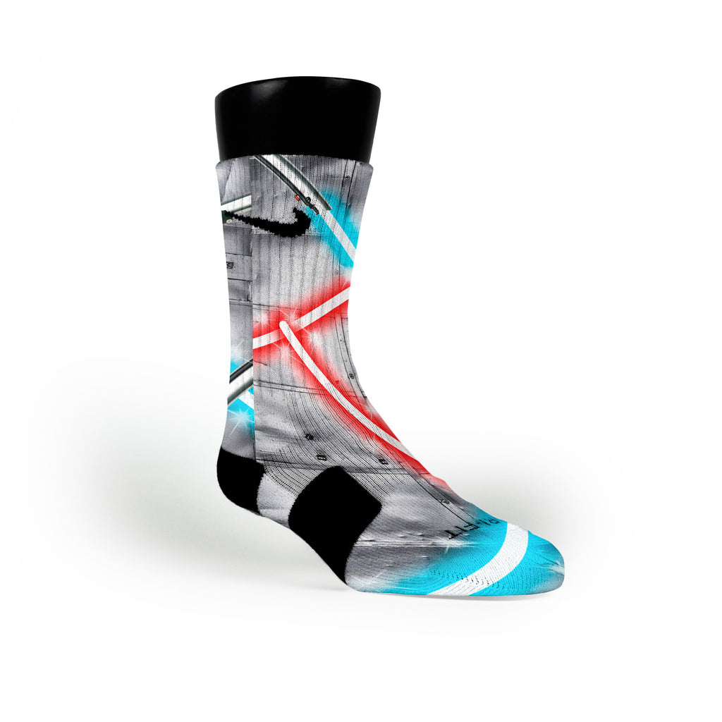 Lightsaber Custom Nike Elite Socks