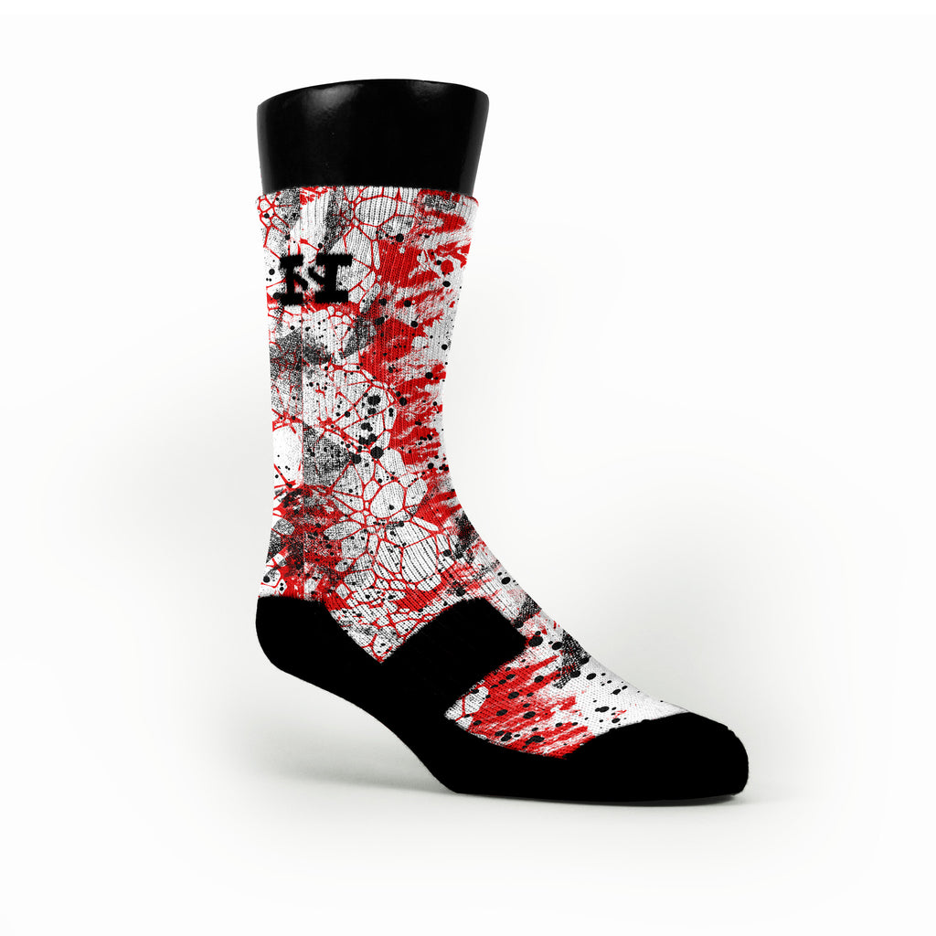 Lions Heart Custom HoopSwagg Socks