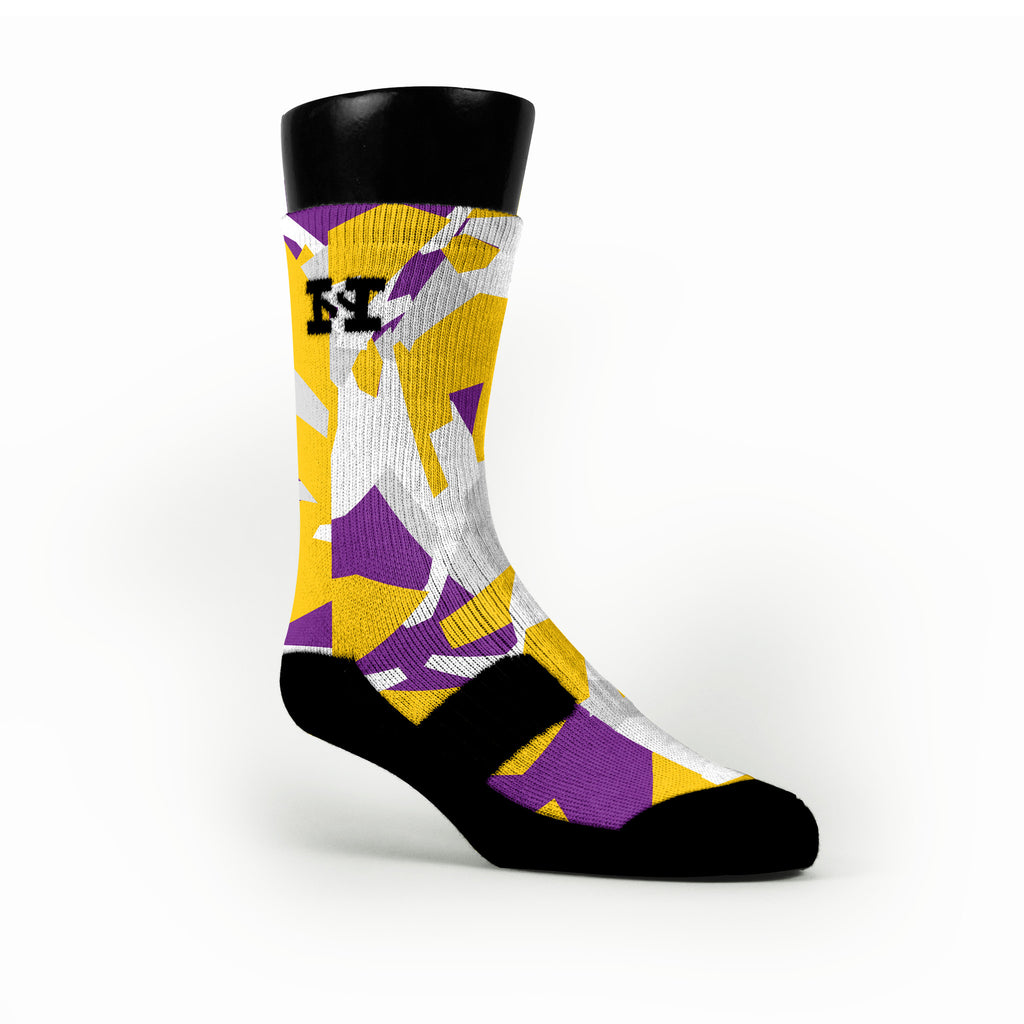 Los Angeles Hardwood Camo Custom HoopSwagg Socks