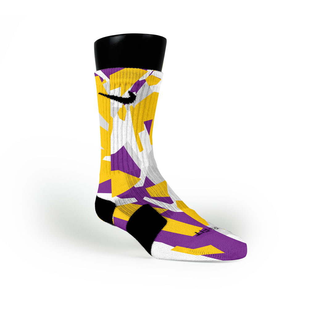 Los Angeles Hardwood Camo Custom Nike Elite Socks