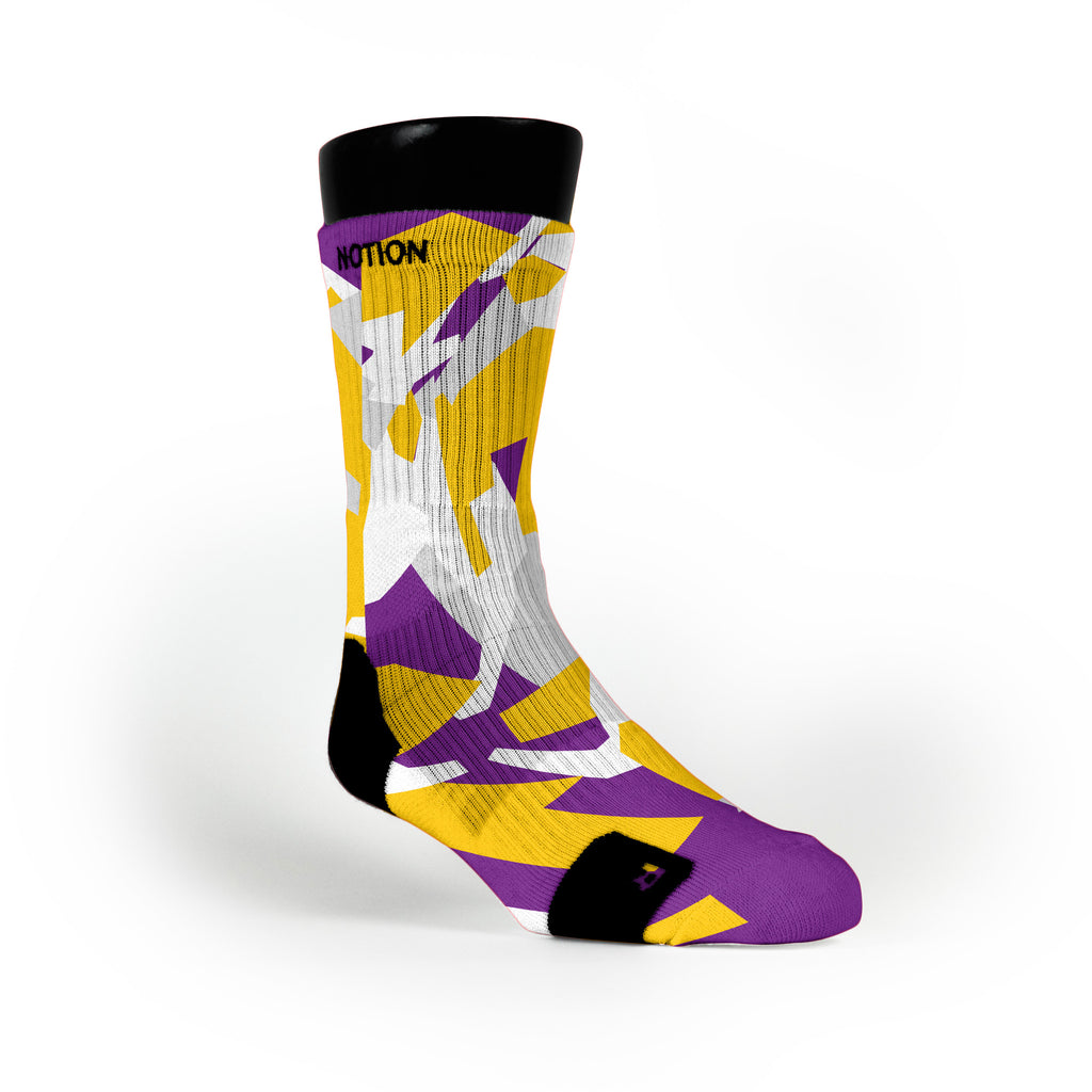 Los Angeles Hardwood Camo Custom Notion Socks