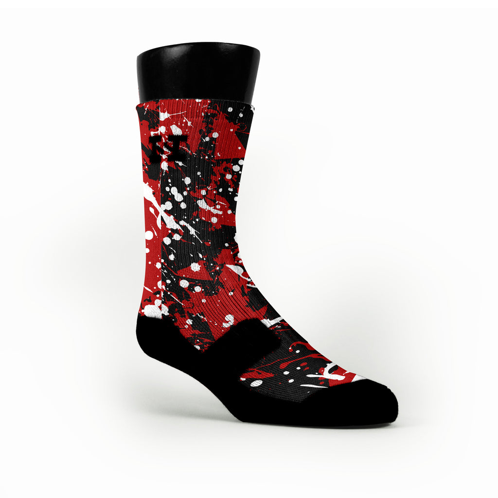 Louisville Splatter Custom HoopSwagg Socks