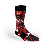 Louisville Splatter Custom Nike Elite Socks