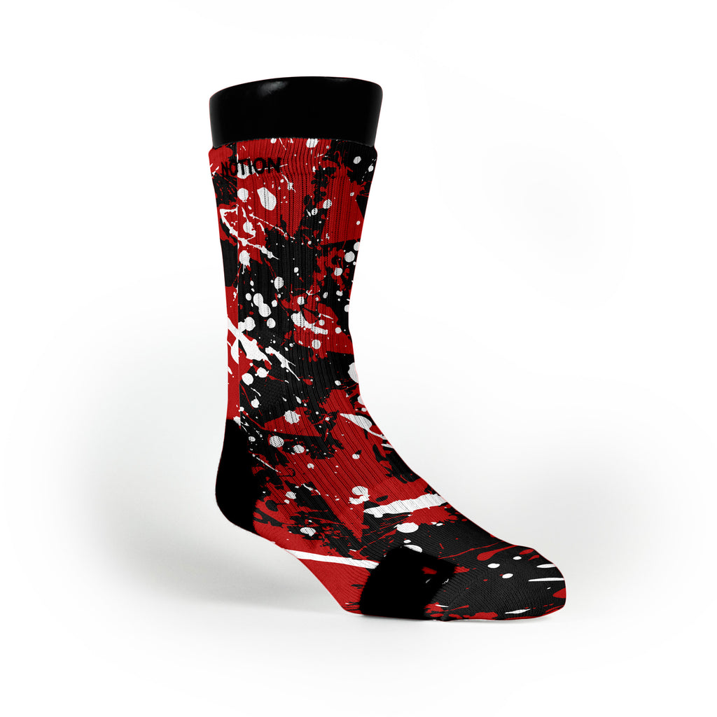 Louisville Splatter Custom Notion Socks