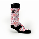 Love Struck Custom HoopSwagg Socks