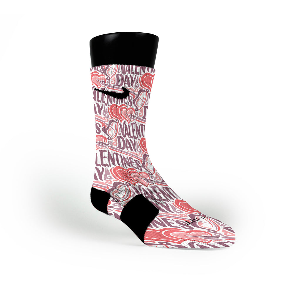 Love Struck Custom Nike Elite Socks