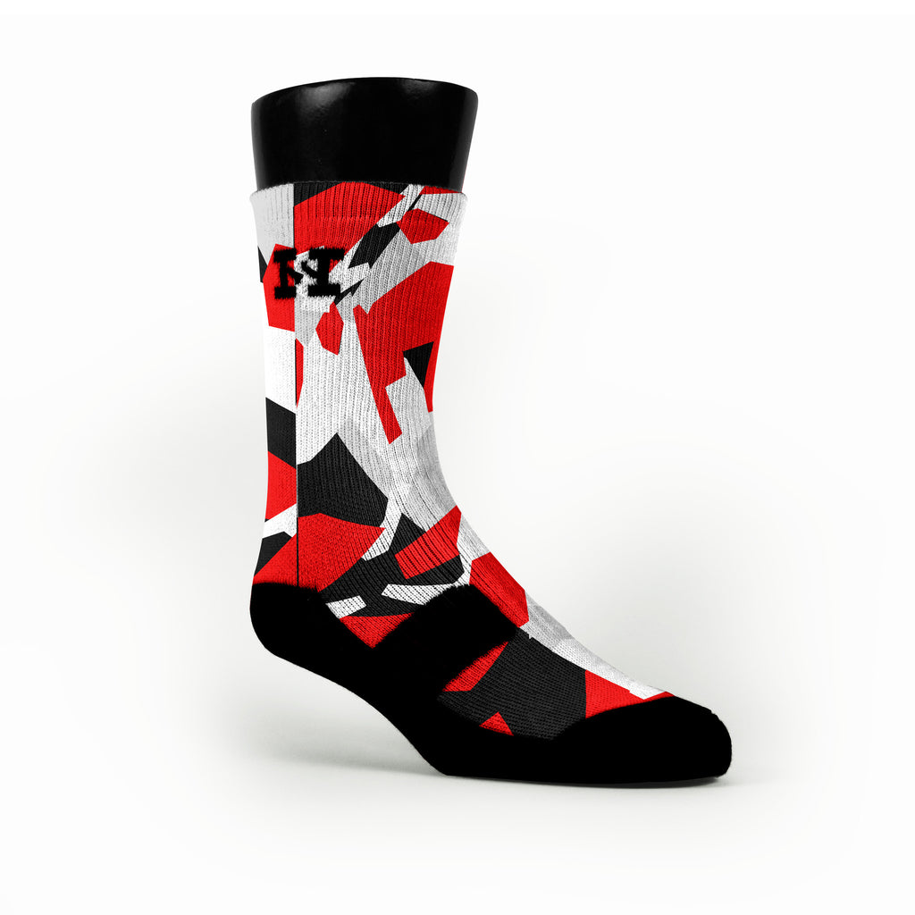Miami Hardwood Camo Custom HoopSwagg Socks