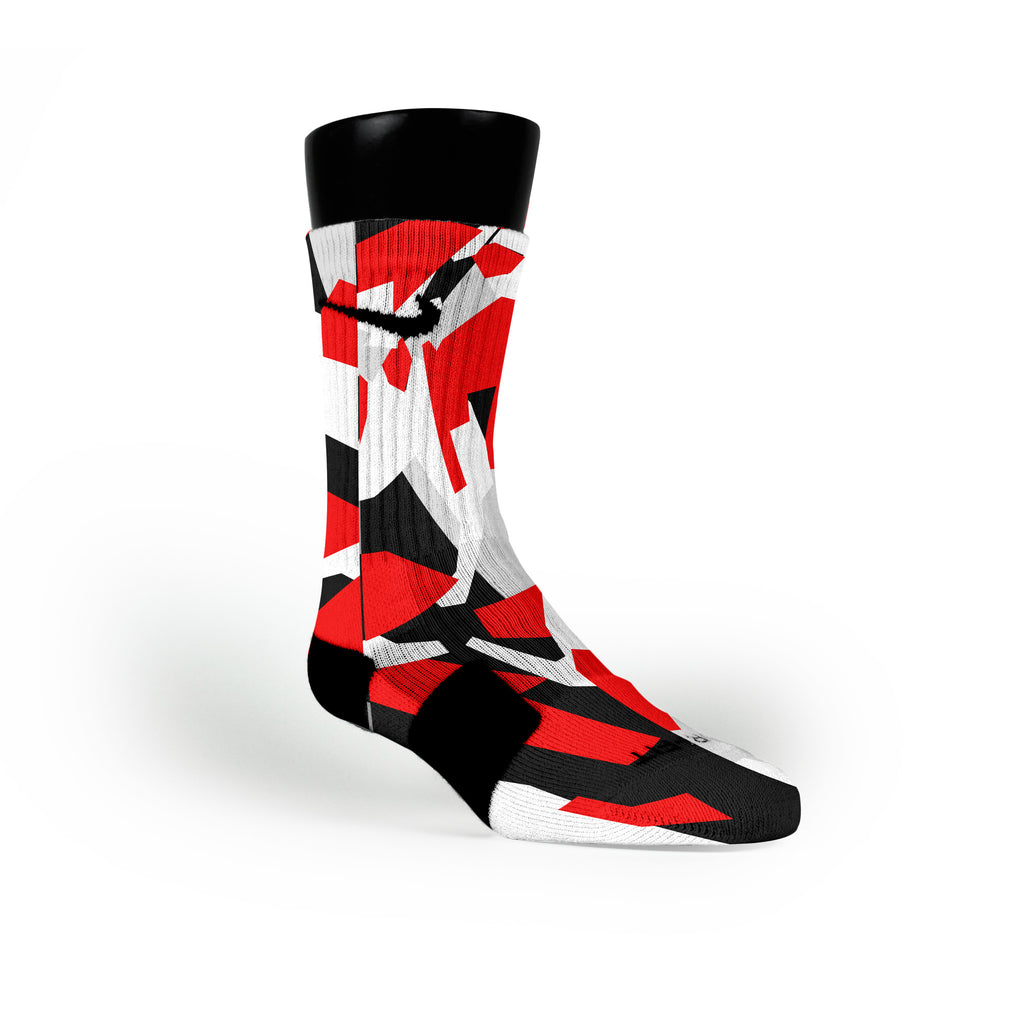 Miami Hardwood Camo Custom Nike Elite Socks