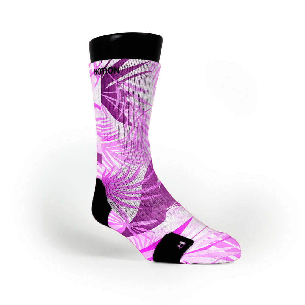 Miami Purple Tropics Custom Notion Socks