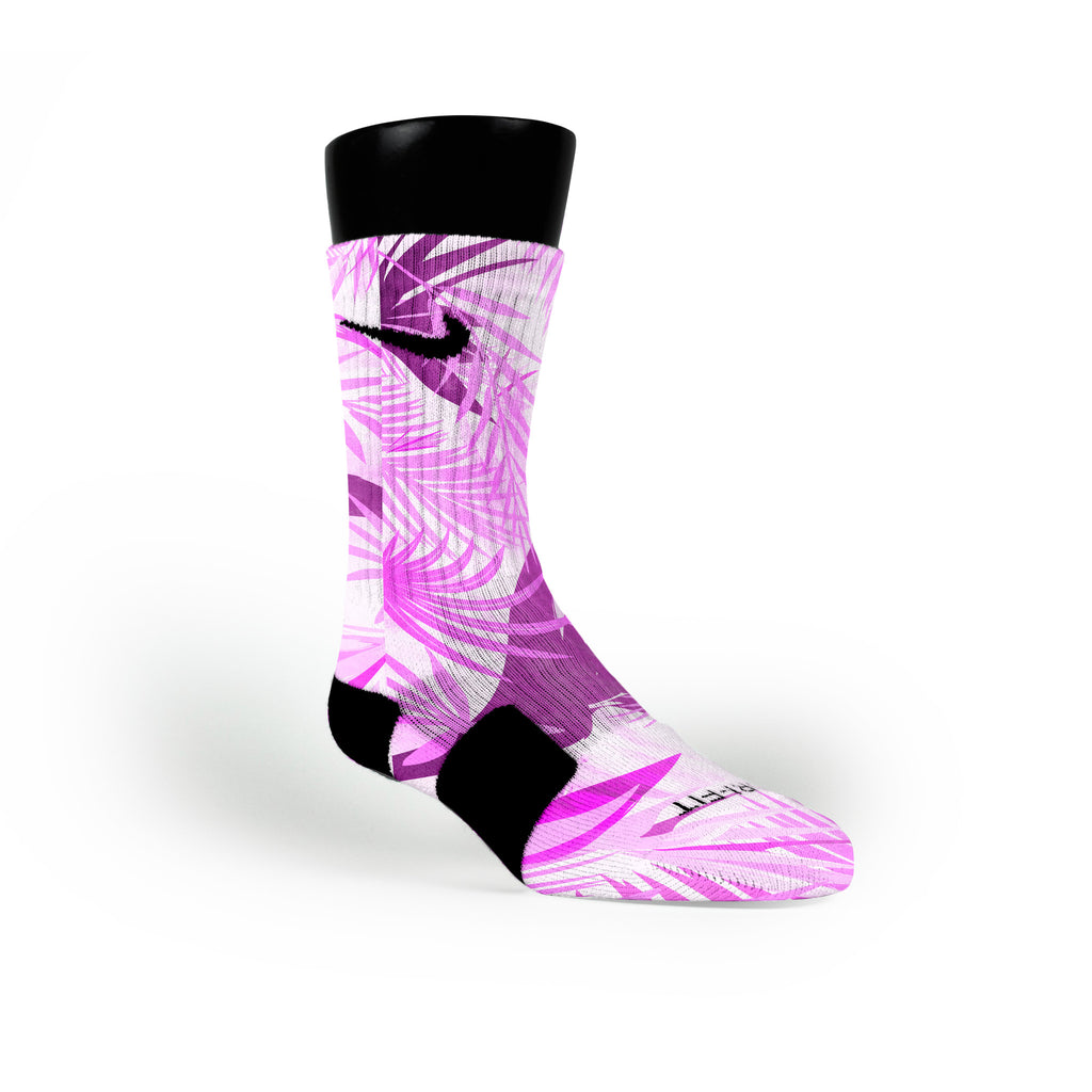 Miami Purple Tropics Custom Nike Elite Socks