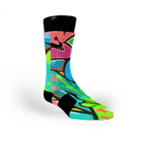 Miami South Beach Graffiti Custom Nike Elite Socks