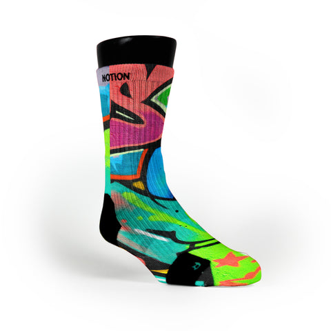 Miami South Beach Graffiti Custom Notion Socks