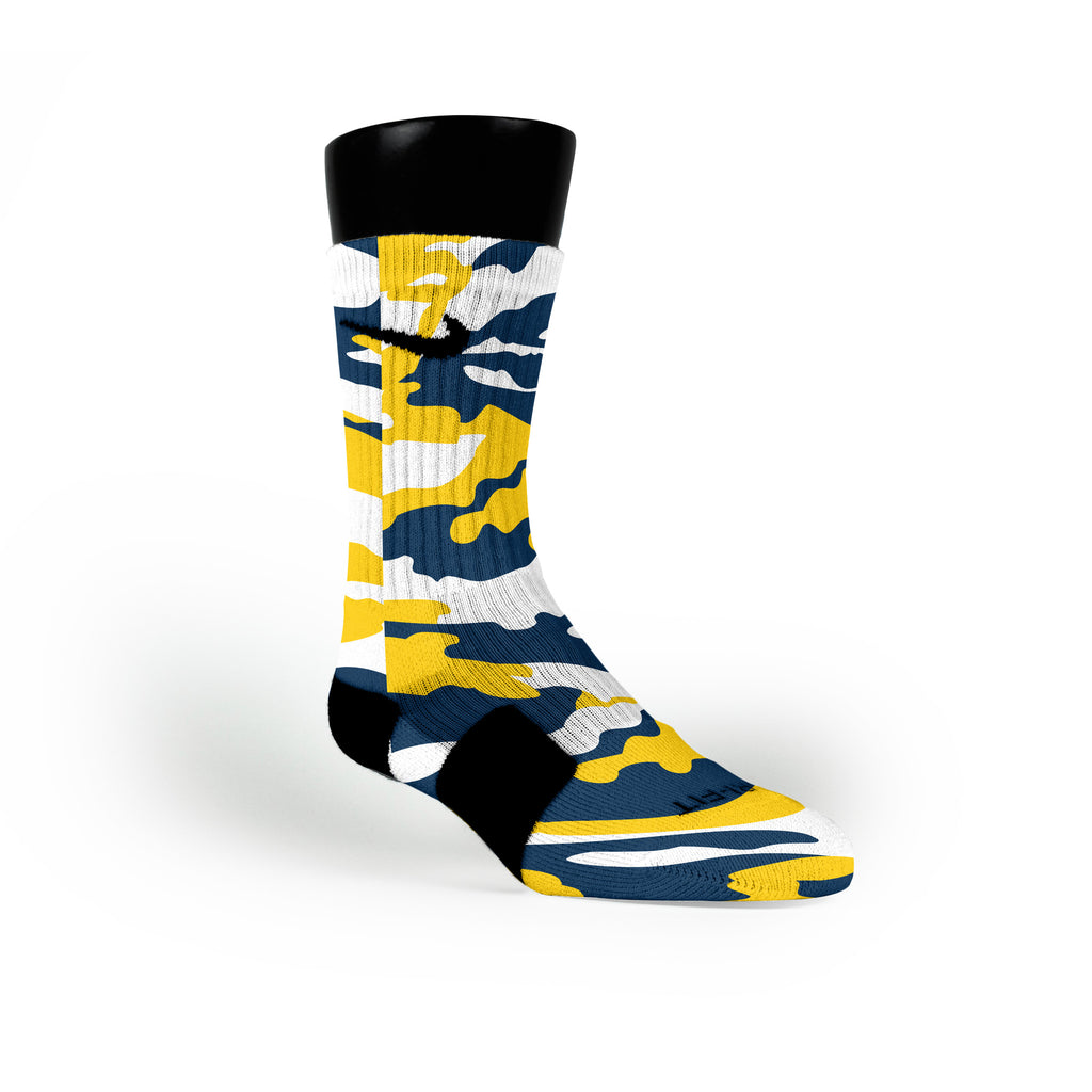 Michigan Camo Custom Nike Elite Socks